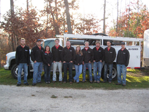 Rainbow Lawns Sprinkler System Installation Crew